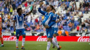 Sergio García celebrando su gol