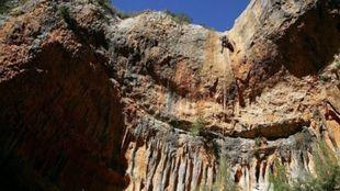 Imagen del barranco Portiacha donde ha fallecido un barranquista...