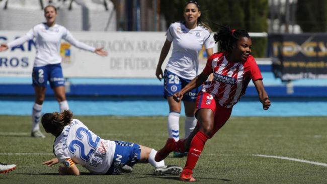 Ludmila da Silva celebra uno de los goles del Atlético de Madrid en...