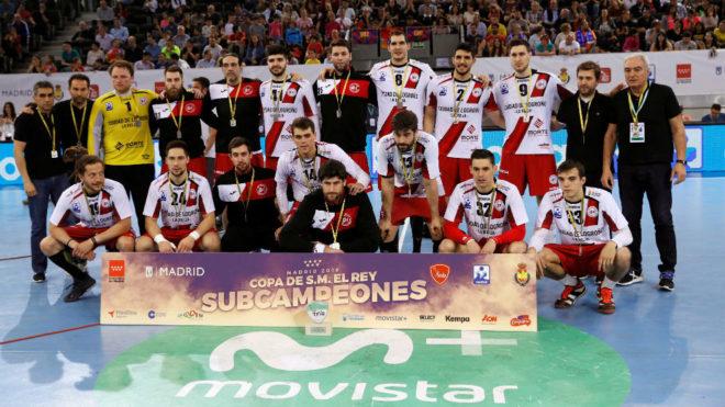 El Logroño La Rioja, tras ser subcampeón de la Copa del Rey /