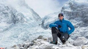 Steve Plain, en el Everest.