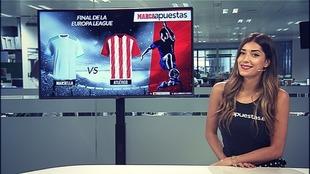 La chica de MARCA Apuestas, Judith Rodríguez, posa para la cámara en...