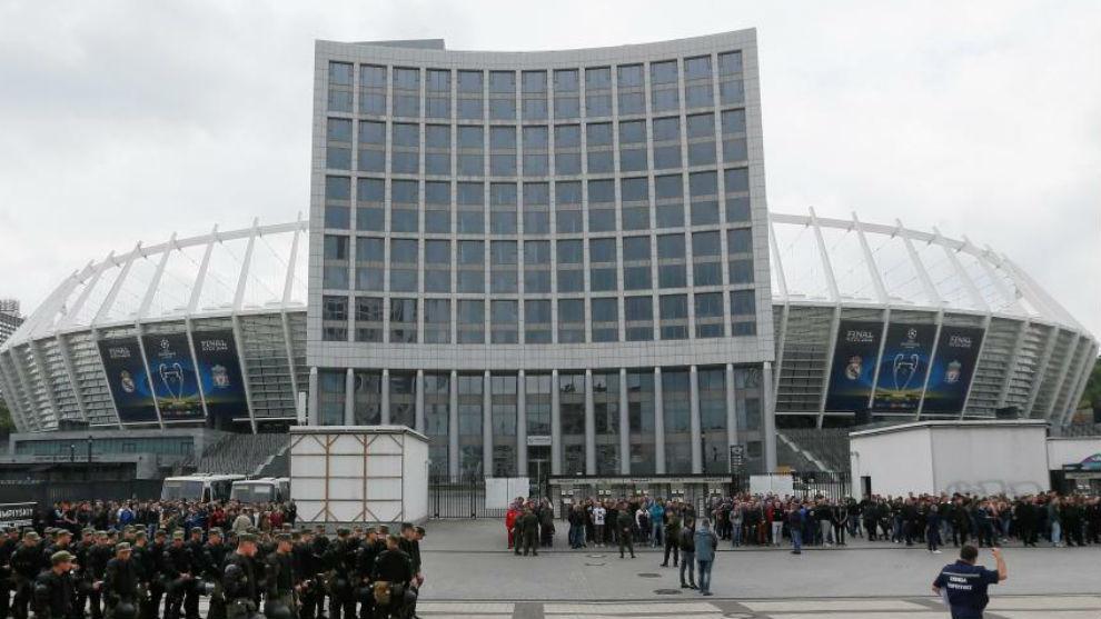 Panorámica del estadio Olímpico de Kiev.