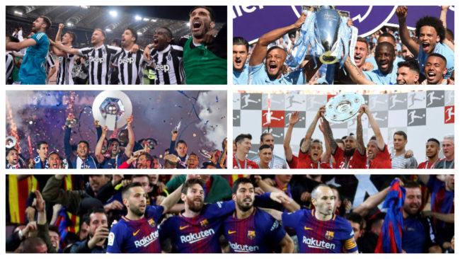 Los cinco campeones de las grandes Ligas europeas van directamente a...