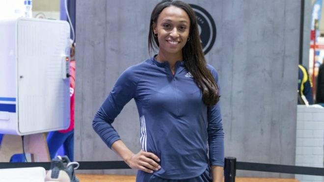 Ana Peleteiro en un acto de Adidas.