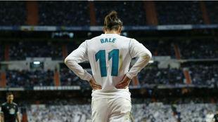 Bale, en el partido ante el Celta en el Bernabéu