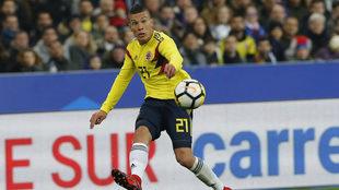 Mateus Uribe en la lista de colombia.