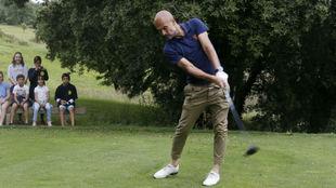 Pep Guardiola, durante un torneo de golf organizado por la Fundación...