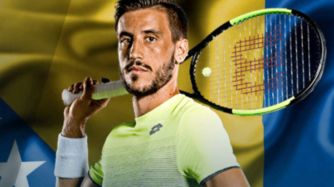 Imagen de Damir Dzhumhur en la web de la ATP.