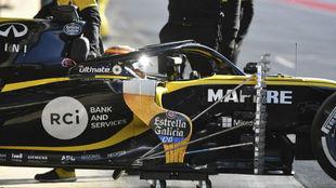 Carlos Sainz, durante los test de hoy en Montmeló