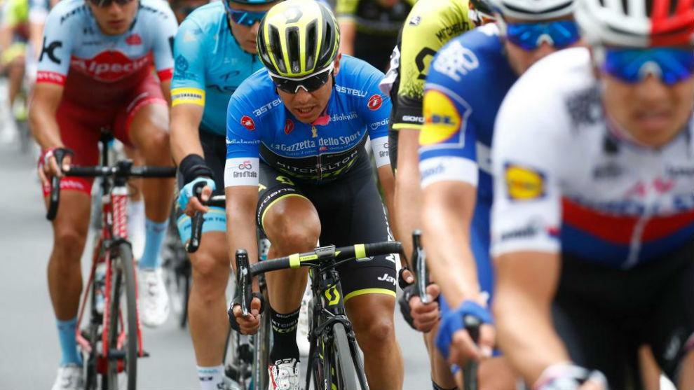 Esteban Chaves durante la 10ª etapa del Giro.
