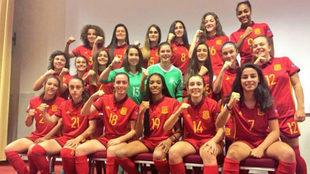 Las componentes de la selección sub 17 española.