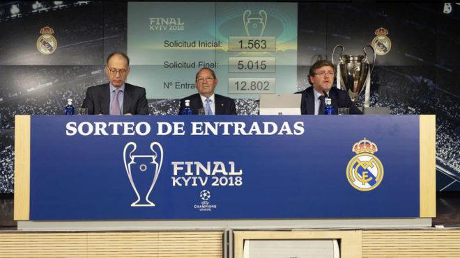 Sorteo de las entradas para Kiev organizado por el Real Madrid