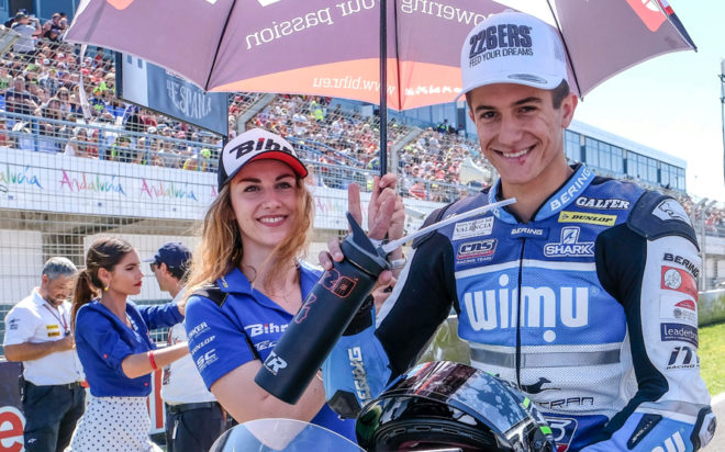 Héctor Garzó, en la parrilla del GP de España.