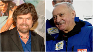 Krzysztof Wielicki y Reinhold Messner.