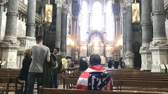 Un seguidor del Atlético, en Lyon