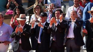 El presidente de Portugal en el Open de Estoril de Tenis