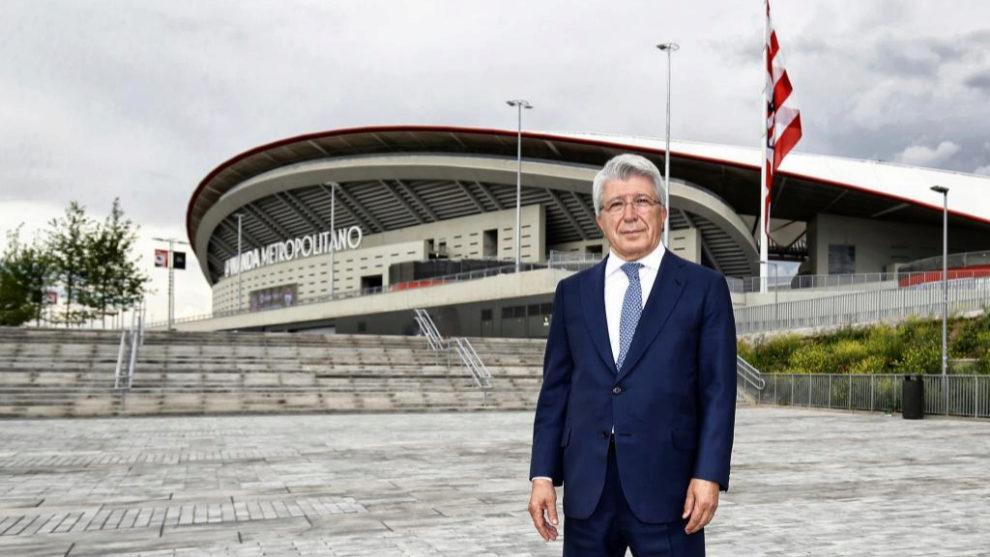Enrique Cerezo durante una entrevista para MARCA