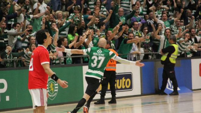 El extremo izquierdo serbio del Sporting CP, Ivan Nikcevic