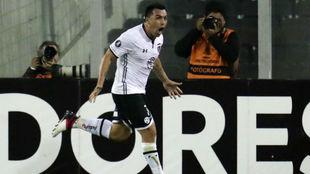 Esteban Paredes celebra uno de sus goles.