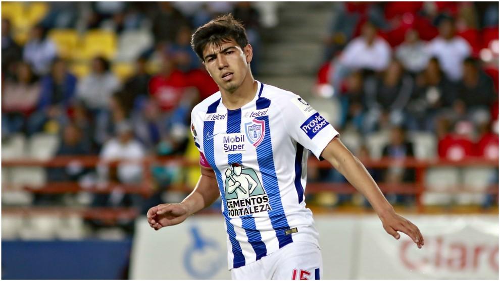Gutiérrez, en un partido con Pachuca.