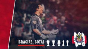 Cota consiguió cinco títulos en tres años con Chivas