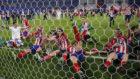 Los jugadores del Atlético celebran el título