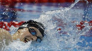 La estadounidense Katie Ledecky, en competición