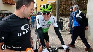 Igor Antón, en el Tour de los Alpes, justo antes del Giro de Italia.