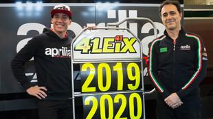 Aleix Espargaró, junto a Romano Albesiano