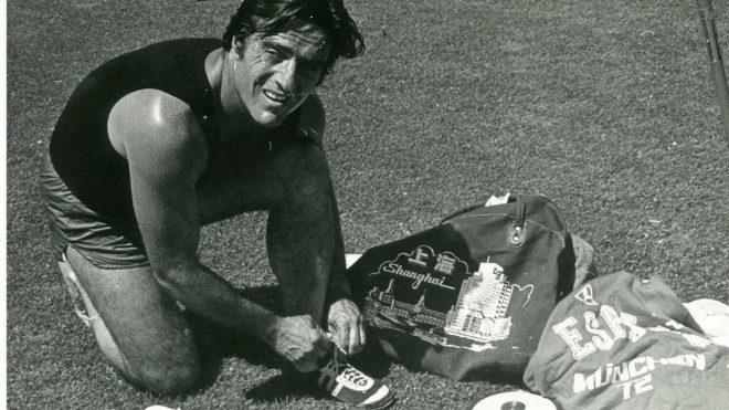 Miguel de la Quadra-Salcedo, en las pistas de atletismo