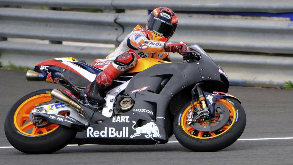 Marc Márquez, durante los test de Honda en Jerez de la semana pasada.