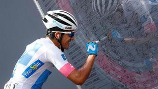Carapaz durante el Giro de Italia.