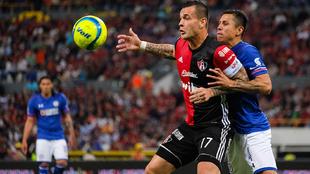 Milton Caraglio durante el partido de la jornada 5 del Clausura 2018...