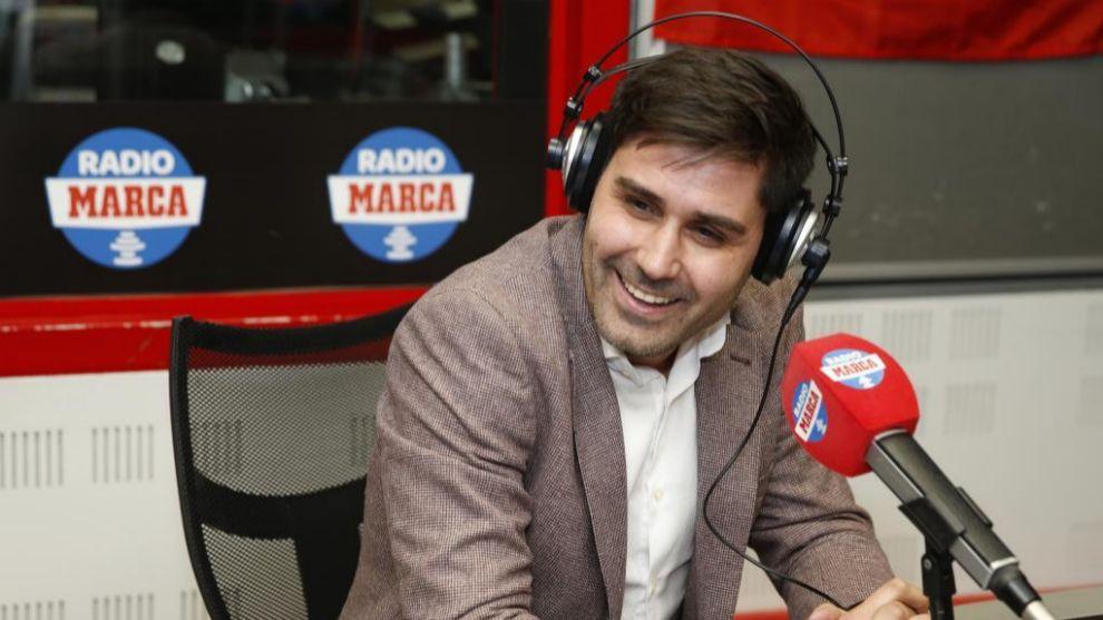 David Aganzo durante una entrevista en Radio MARCA