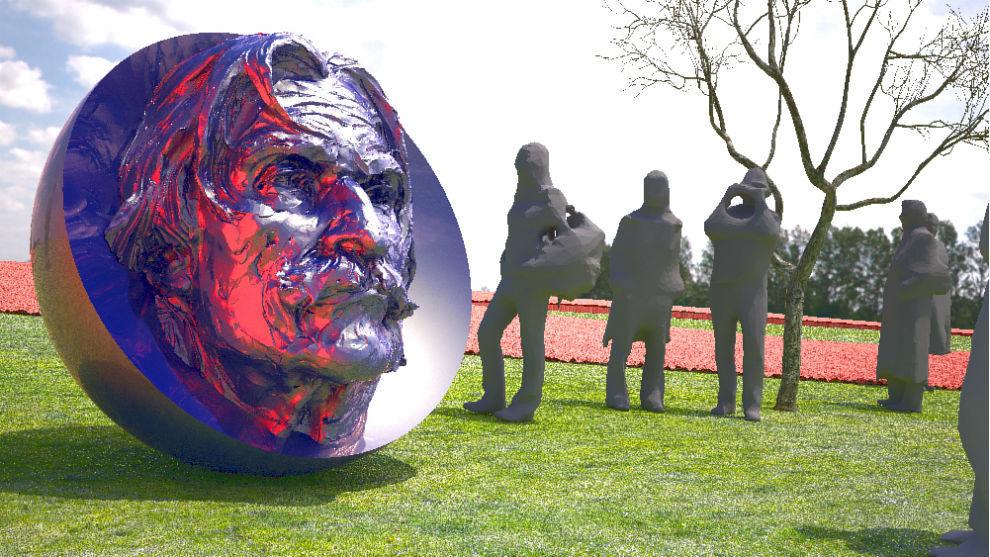 Así será la escultura que se inaugurará este sábado