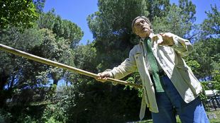 Miguel de la Quadra-Salcedo, con la jabalina