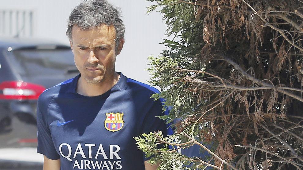 Luis Enrique, en su etapa en el Barcelona