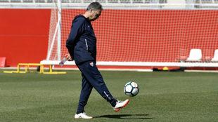 Joaquín Caparrós, en un entrenamiento.