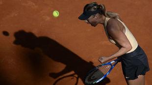 Sharapova grita tras la victoria