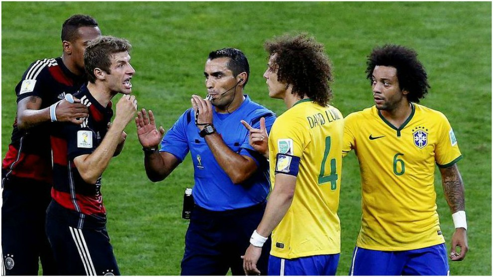 Marco Antonio Rodríguez, en el duelo entre Alemania y Brasil.