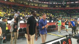 Ekpe Udoh y Bogdanovic en el Kombank Arena