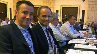 May Peus con Eduardo Valenzuela en el Congreso de la FIS