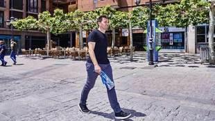 Garitano pasea por Leganés.