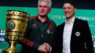 Heynckes and Kovac do battle before the passing of the Bayern baton