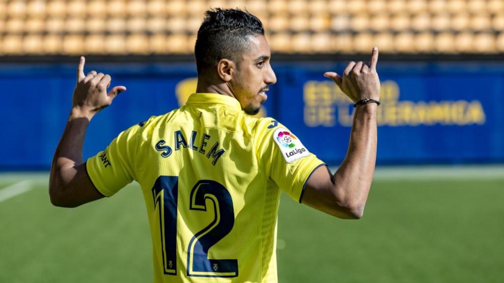 Salem, durante su presentación con el Villarreal.