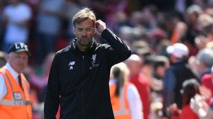 Klopp, en un partido con el Liverpool esta temporada