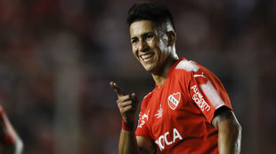 Maxi Meza (25), con Independiente.