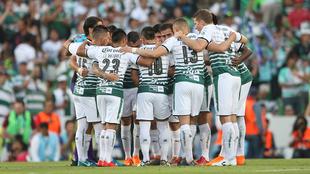 'Teamback' de Santos previo a la ida de la final del...