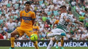 Santos enfrentó a Tigres en la Liguilla del Clausura 2018.